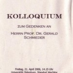 Gedenken an Gerald Schmieder