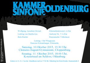 Kammersinfonie Plakat September 2015